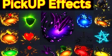 Pick up Effects in UE4 Niagara Pack01 in Marketplace