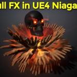 Skull Fx in UE4 Niagara | Download Project Files