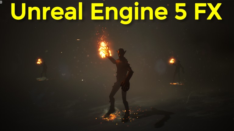 Character Fire torch and dust Fx in UE4.26 Speed Art   Download Project Files