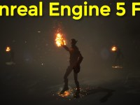 Character Fire torch and dust Fx in UE4.26 Speed Art | Download Project Files
