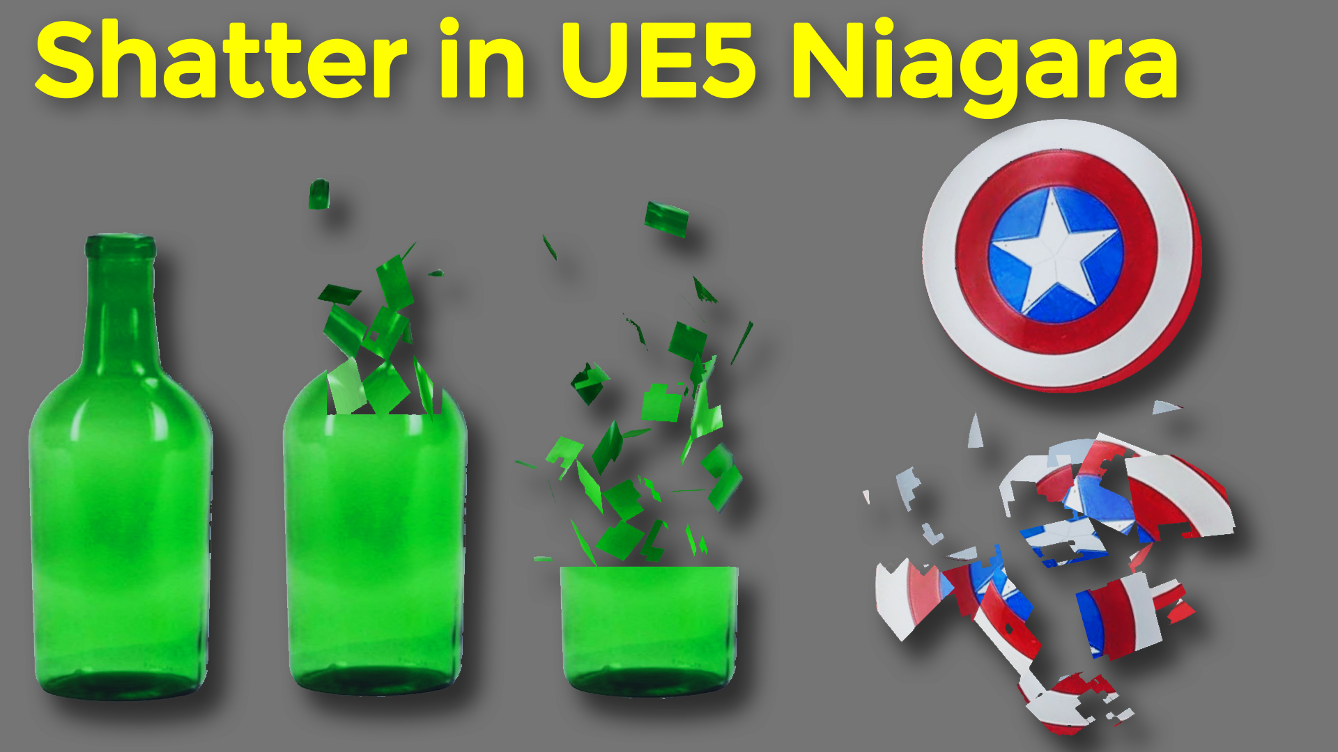 Shatter in UE5 Niagara Tutorial   Download Project Files
