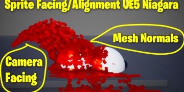 Sprite Facing/Alignment to Collision mesh in UE5 Niagara Tutorial   Download Files