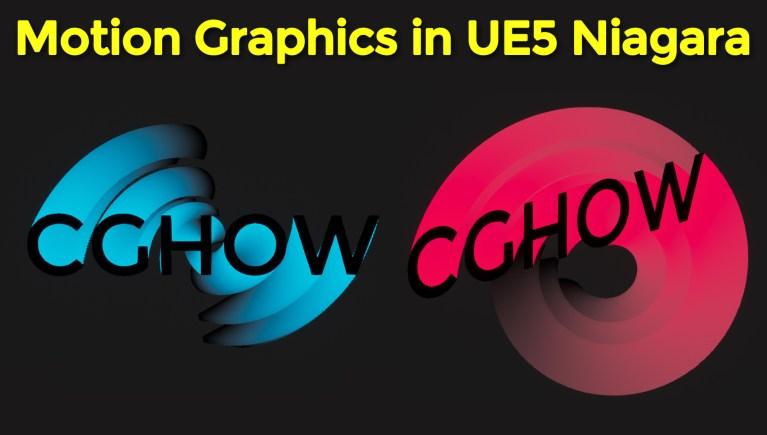 Motion Graphics in UE5 Niagara Tutorial | Download Files