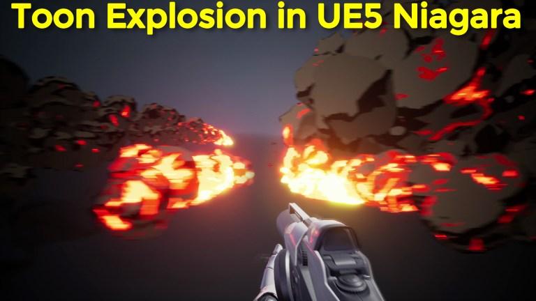 Cartoon Explosion in Unreal Engine 5 Niagara Tutorial   Download Files