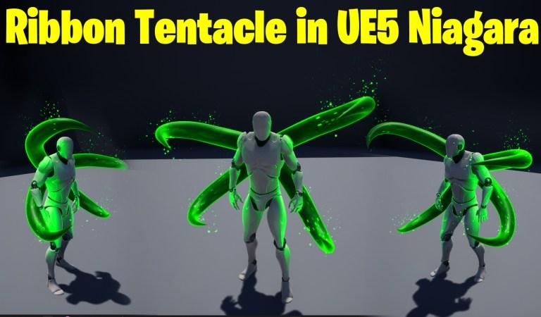 Ribbon Tentacle in UE5 Niagara Tutorial   Download Files