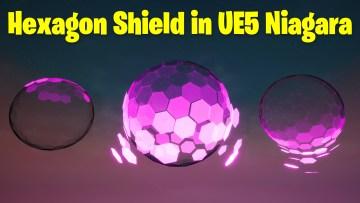 Hexagon Shield in UE5 Niagara Tutorial   Download Files
