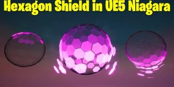 Hexagon Shield in UE5 Niagara Tutorial | Download Files