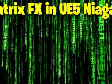 Matrix Text FX in UE5 Niagara Tutorial | Download Files