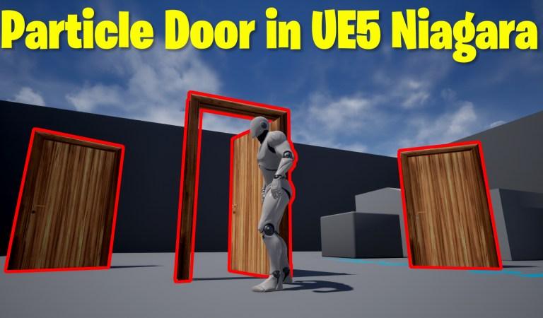 Particle Door in UE5 Niagara Tutorial   Download Files