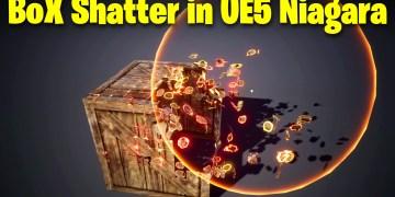 Box Shatter in UE5 Niagara Tutorial | Download Files