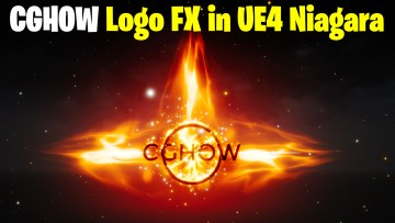 CGHOW Logo FX in UE4.27 Niagara | Download Files
