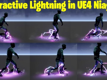 Interactive Lightning in UE4.27 Niagara Tutorial | Download Files