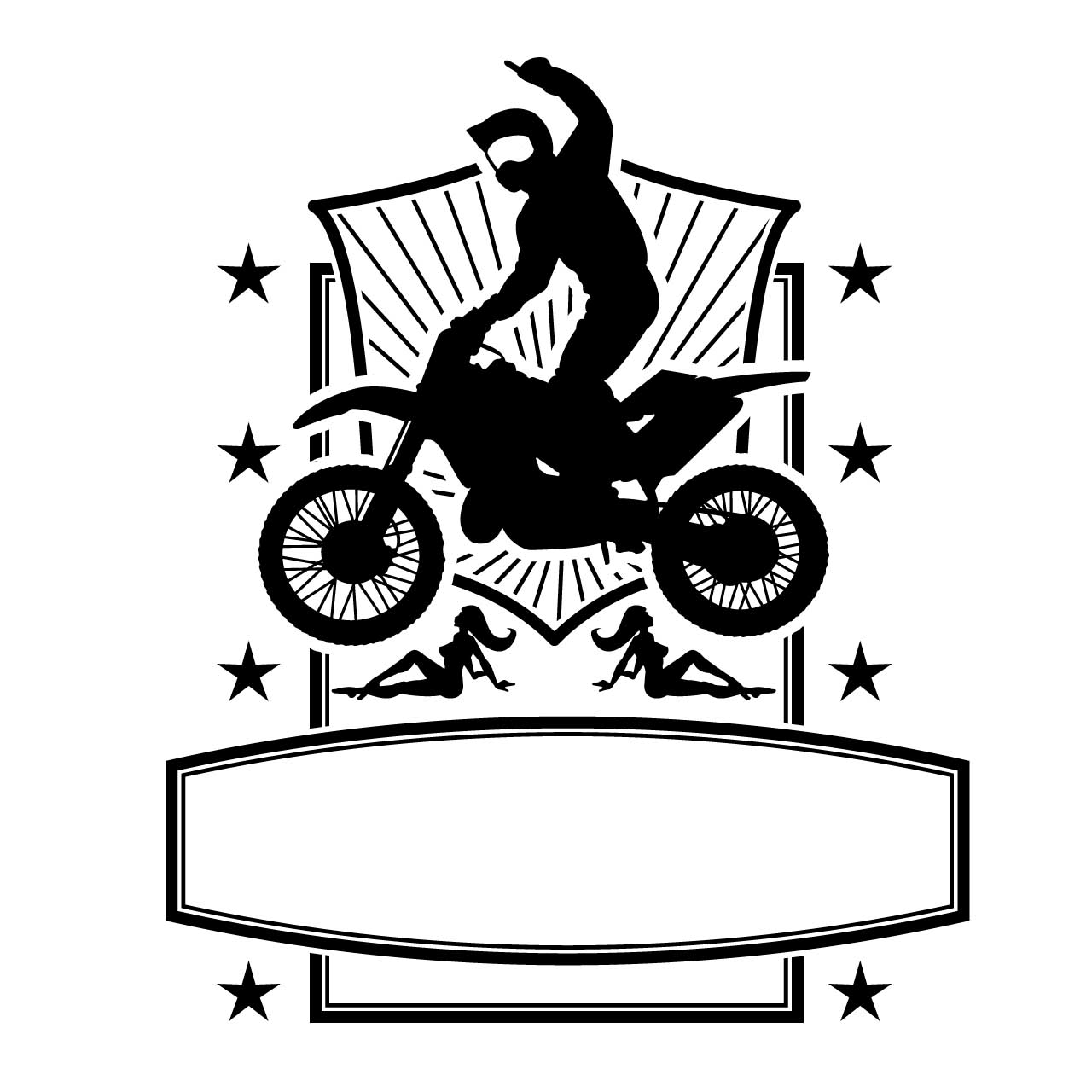 Motorbike Jump Frame Vector Free Download