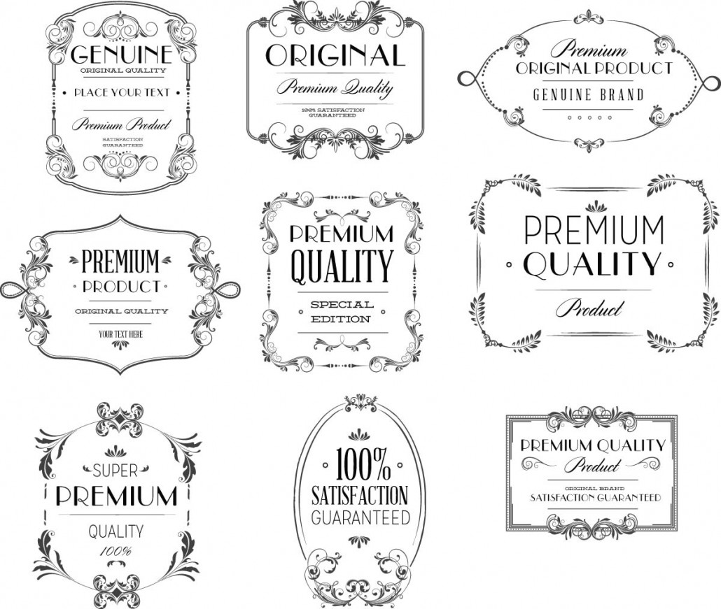 Premium Typography Vintage Vector
