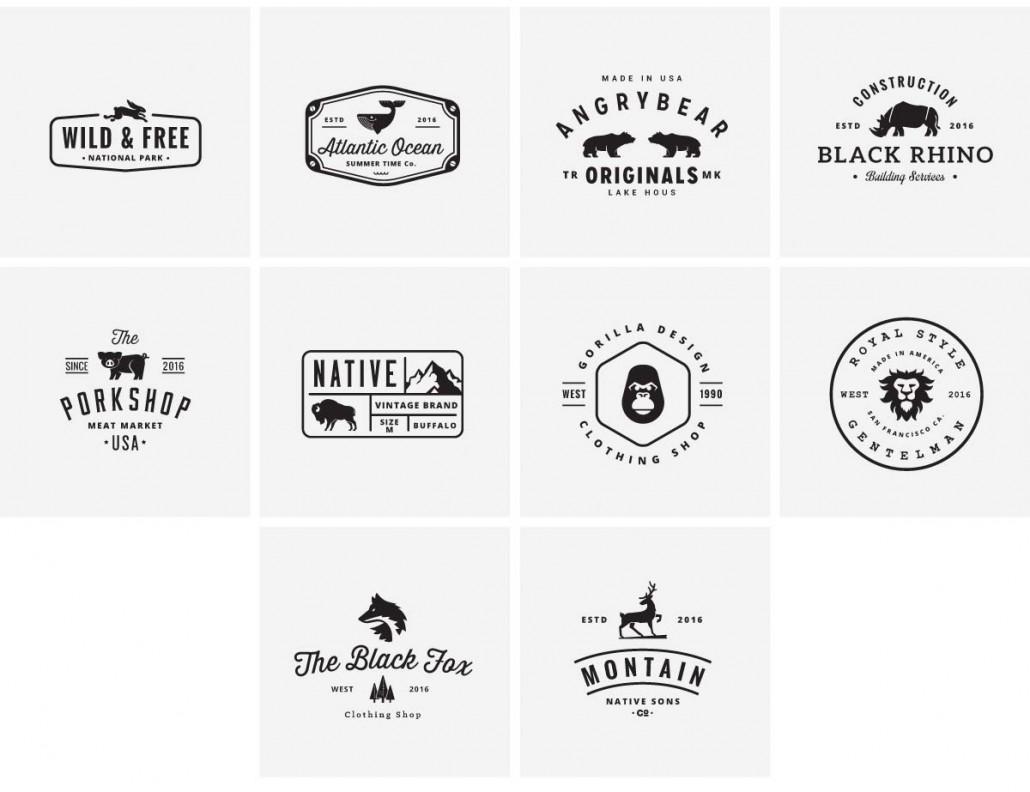 Animal Branding Logotypes Vector