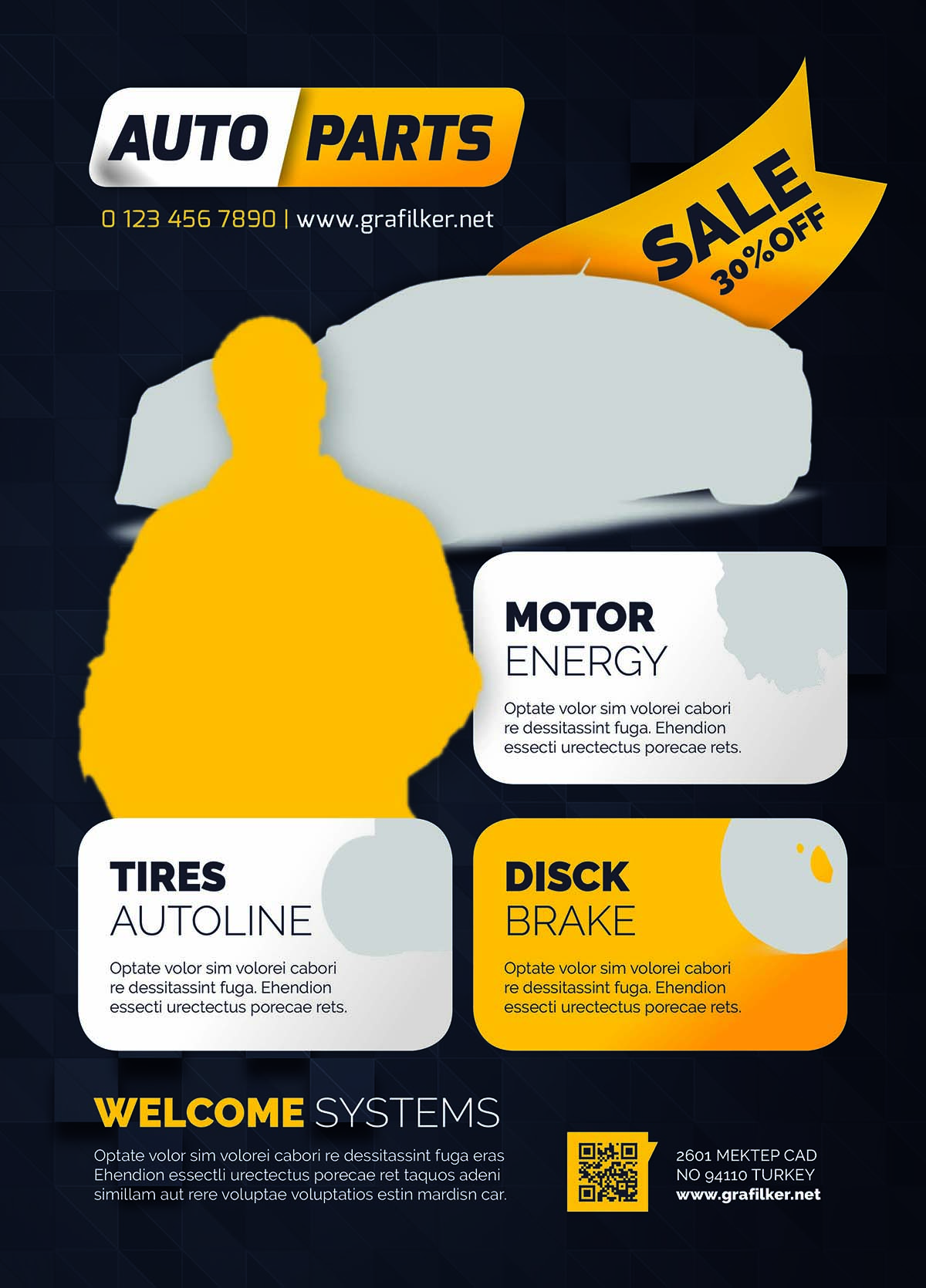 Auto Spare Parts Flyer Design Free Download