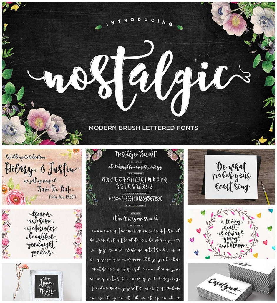 Nostalgic Calligraphy Font Free Download