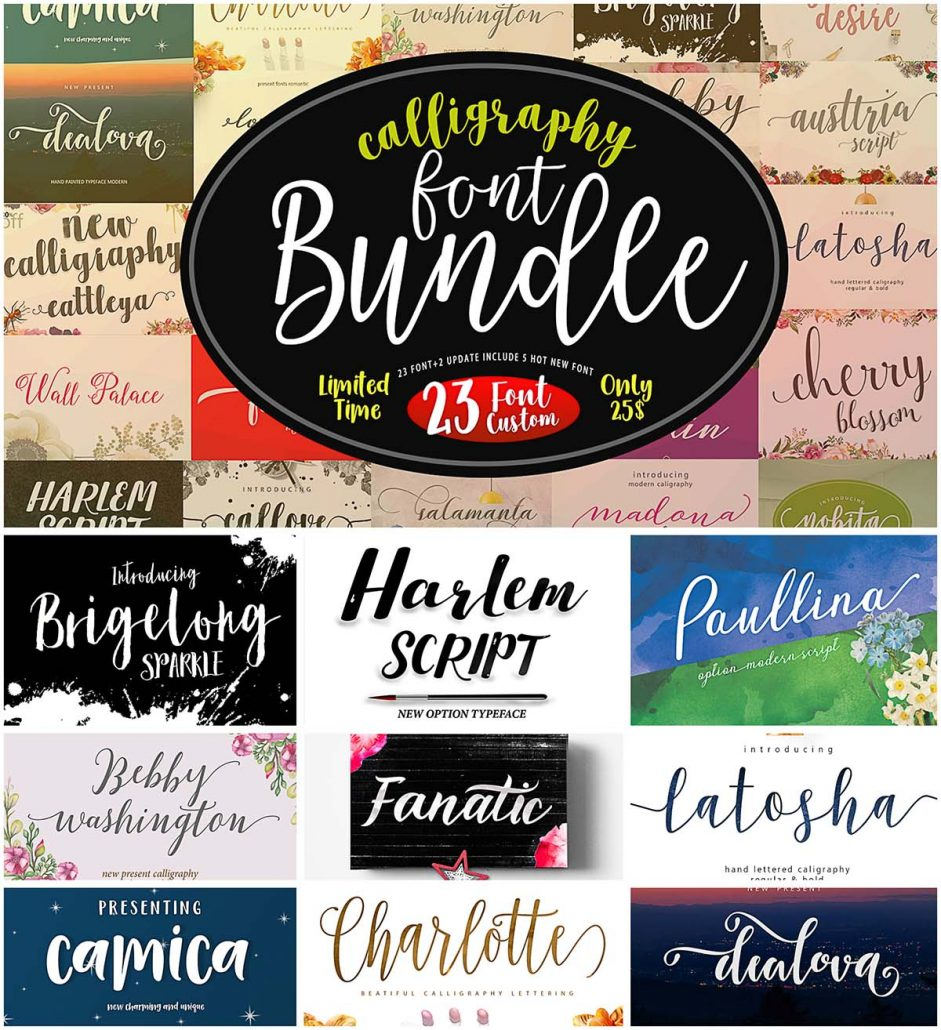Download Calligraphy fonts collection   Free download
