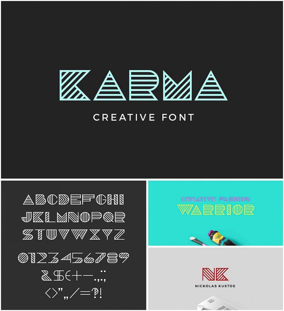Karma Geometric Font Free Download