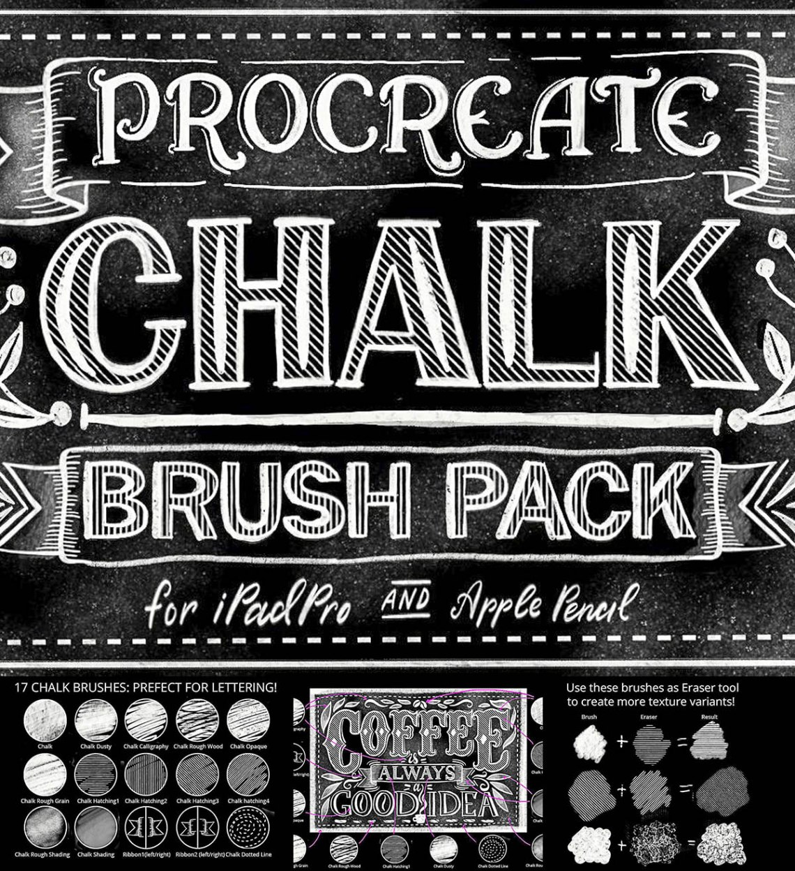 Download Procreate lettering brush pack   Free download