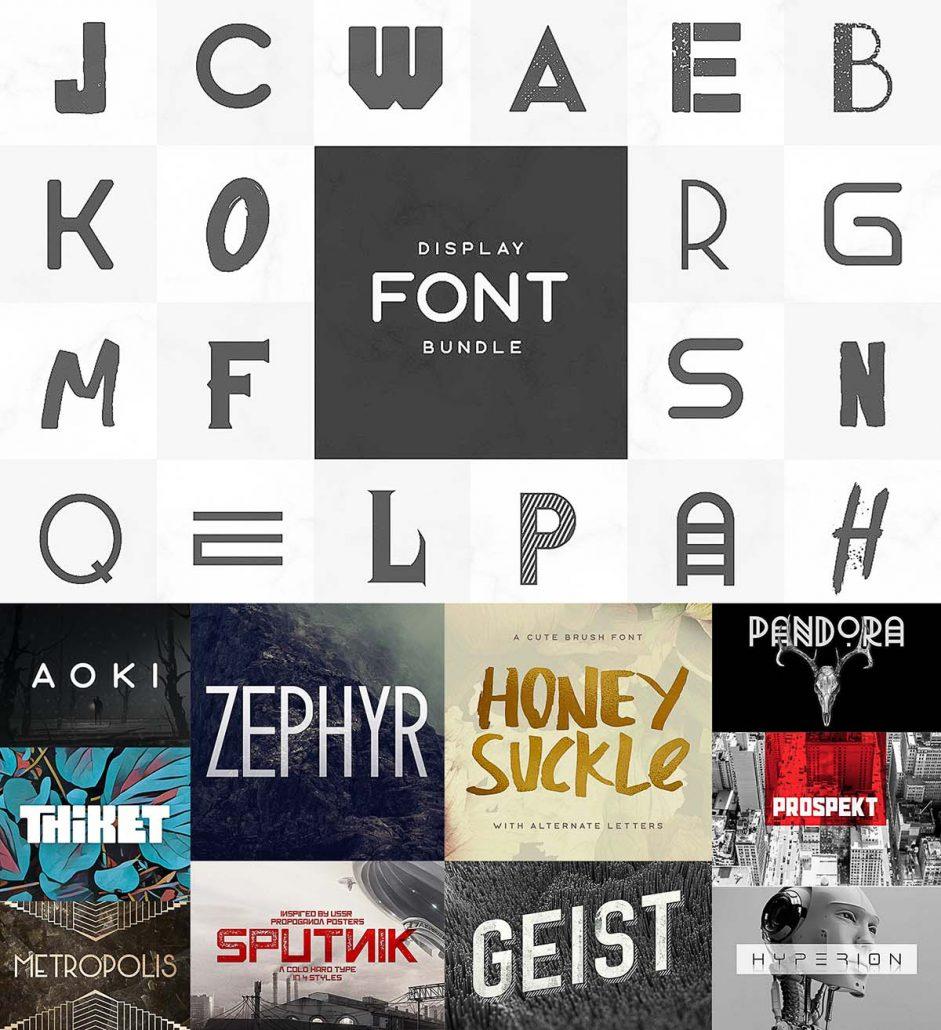 Download Display Fonts Bundle | Free download