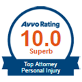 Avvo Superb Rated Top Personal Injury Attorney