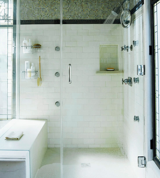 Awesome walk in shower with seat that you will love