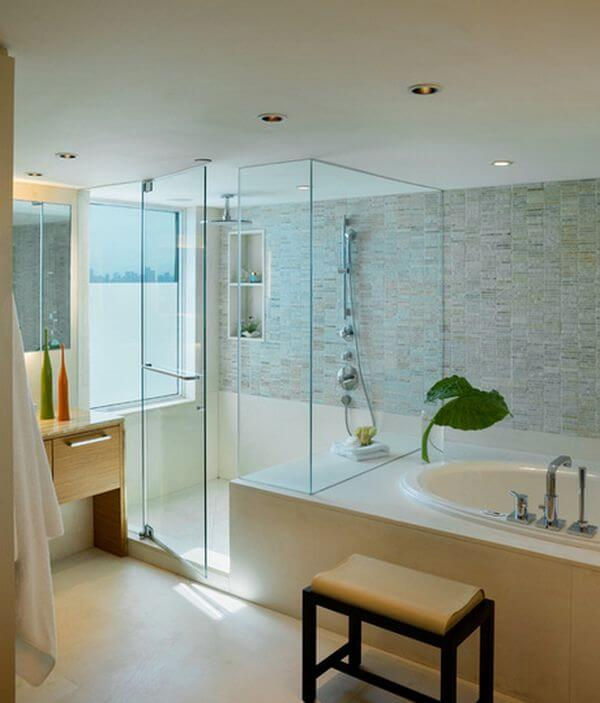 Bathroom Beautiful: walk in shower and tub to upgrade your bathroom