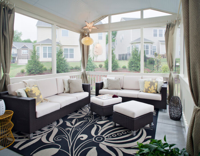 Beautiful room ideas for sunroom pictures additions furniture