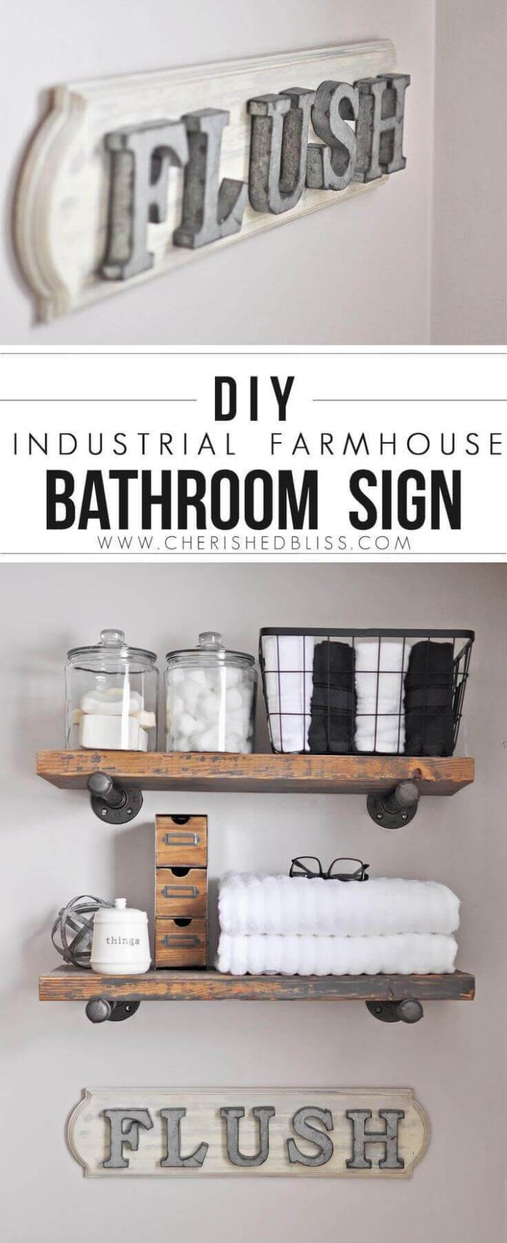 Beautiful farmhouse bathroom wall decor for you that are inexpensive and simple to do