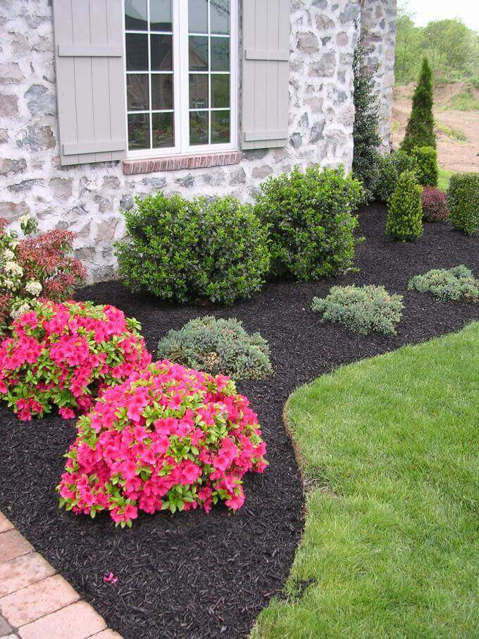 Cheap and Easy small front yard landscaping ideas with rocks to beautify your garden on a budget - Inspirational Gardening Ideas
