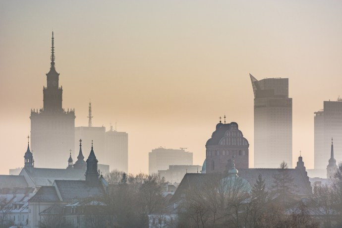 Smog over Warsaw