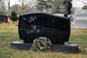 Black Granite Headstone