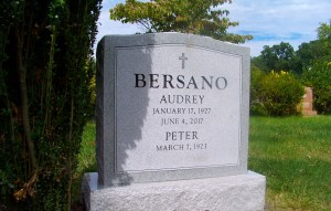 Georgia Gray Granite headstone with frosted center