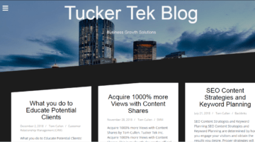 Tucker Tek Blog