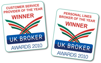 UK Broker Awards - winners for customer service and personal lines broker