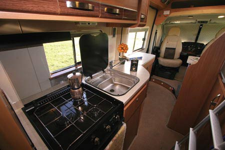 Autocruise Quartet kitchen