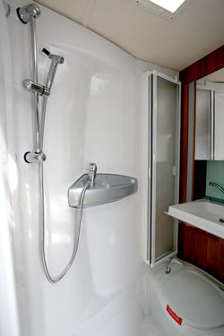 Well designed shower room