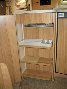 Bailey Pegasus GT65 Rimini Kitchen Storage