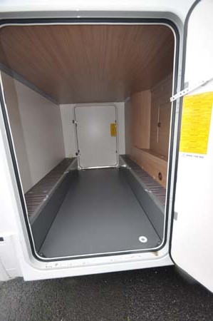 Sunliving A49 DP motorhome garage