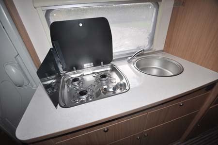 Sunliving A49 DP motorhome kitchen