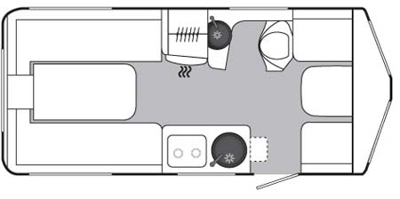 Eriba Touring GT540 Floorplan