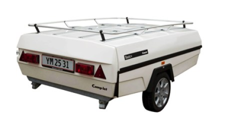 Camp-let Classic trailer tent with roof rack