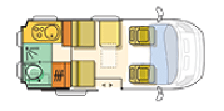 Adria Twin Floor plan