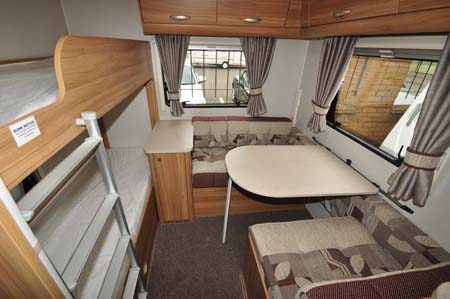 Elddis Sanremo 526 Dining and Bunk Beds