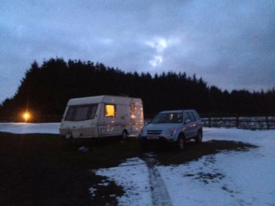 Winter touring in caravan