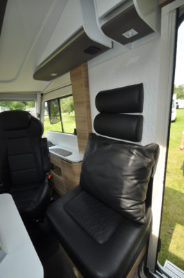 Adria Sonic Supreme 710SBC seats and upholstery