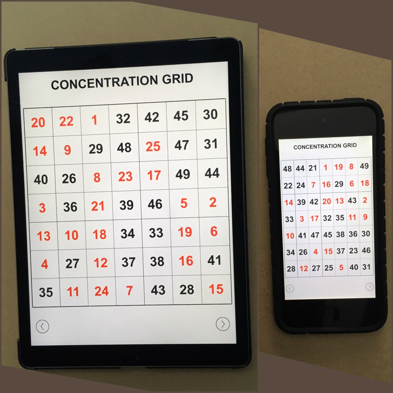 Concentration Grid is a mental skills training exercise/app for students, athletes, coaches, sports performance/psychology professionals, trainers, teachers, parents, etc. Use concentration grids a/k/a mental focus grids with student-athletes as a tool for assessment, practice and development of focus/attention skills … and for competitive challenge and fun. Make self-development a daily habit. #challengeyourself #concentrationgrid -www.concentrationgrid.com – www.mentalfocusgrids.com – www.tryconcentrationgrid.com