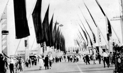 Avenue of Flags at 1933 Chicago Fair
