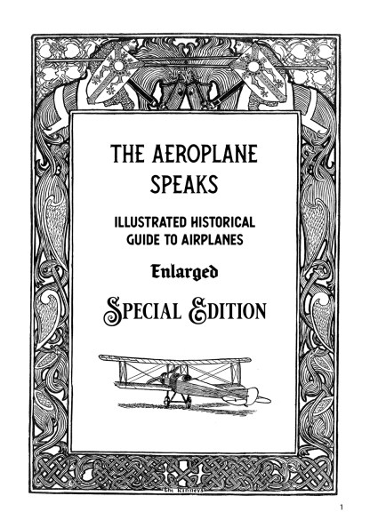 The Aeroplane Speaks: Illustrated Historical Guide To Airplanes image 1